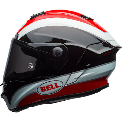 Bell Street 2017 STAR Full Face Motorcycle Helmet Classic Black / Red