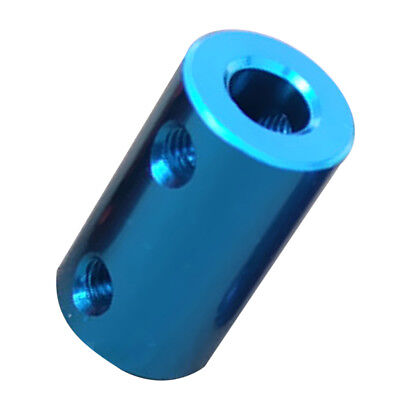 8mm-8mm Rigid Flexible Shaft Coupler Motor Connector Aluminum Alloy Aqua