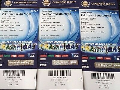Pakistan vs South Africa ICC Champions Trophy Tickets