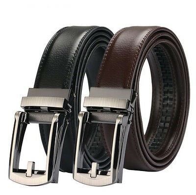 2017 Comfort Click Belt Leather With Steel Brown And Black For Gentleman Men NEW