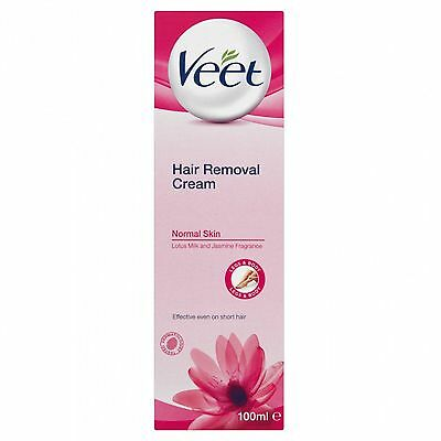 Veet Hair Removal Cream 100ml for Normal Skin X6