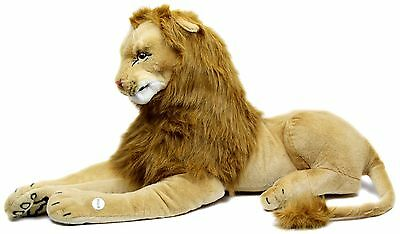 Extra Large Giant Plush Lying Lion Soft Toy With Noise