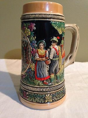 Vintage Armin Bay Limited Edition Austria Beer Stein Hand Painted Old Tankard