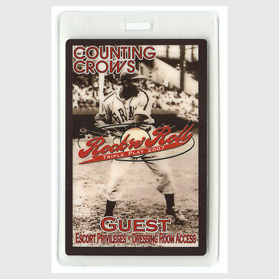 Counting Crows authentic 2007 Laminate Backstage Pass RockNRoll Triple Play Tour