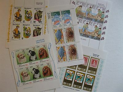 New Zealand Miniature Sheets - Health Stamps - Pack Of 5