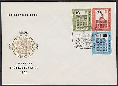 DDR FDC 873 - 875 mit SST Leipzig Messe 22.02.1962, first day cover