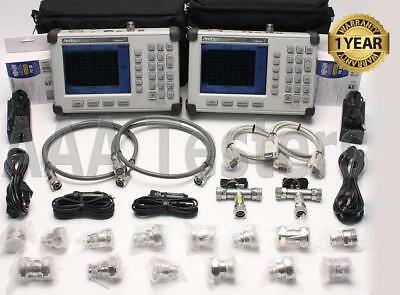 Lot of 2 Anritsu S331D SiteMaster Cable & Antenna Analyzer Opt3 Color 7/16 Din