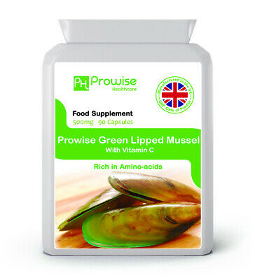 PROWISE GREEN LIPPED MUSSEL 500mg 90 capsules, High Grade New Zealand Sourced