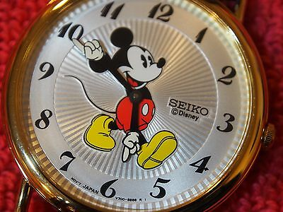 Mickey Mouse Seiko Watch Mens New In Box Htf All Original Never Worn