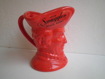 Rare Jug Pitcher Pichet Scotch Whisky Old Smuggler Advertising Pub
