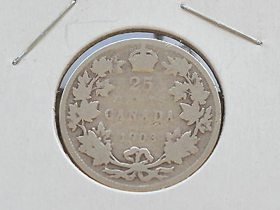 1903 Canada Edward VII Silver Five Cents Coin D0146