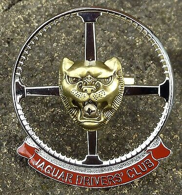 Jaguar  Drivers Club Car Grille  Badge  X Type S Type E Type Xjs Xj6 Xk8 Xjr