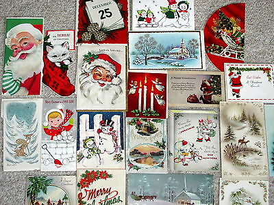 Vintage Greeting Card Lot 1910 1922 1950's 1960's  Christmas Valentines Birthday