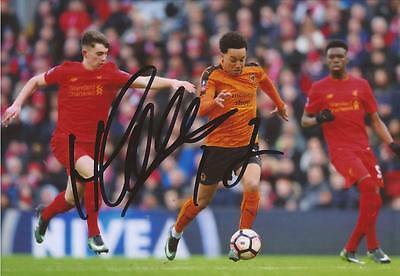 WOLVES: HELDER COSTA SIGNED 6x4 ACTION PHOTO+COA *LIVERPOOL FA CUP WIN*
