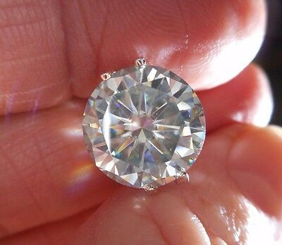 LUNAR MOON! 5.71 CT  VVS1 11.80 mm  ICY MINERAL WHITE ROUND LOOSE MOISSANITE