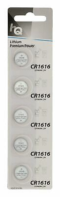HQ CR1616 3V Lithium Button Battery Coin Cell DL1616 for Car Key Fobs x 5 PACK