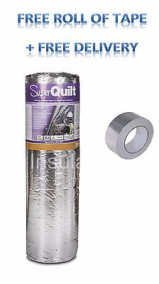 YBS SUPERQUILT 1.5M X 10M X 40MM SUPERFOIL INSULATION 15M2 + Free Tape
