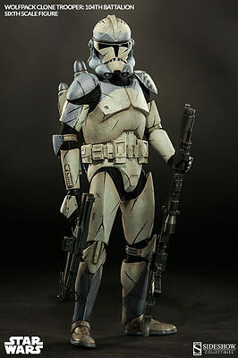 NEW Sideshow Star Wars Wolfpack Clone Trooper 104th Battalion 1/6 1:6 scale USA