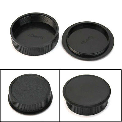42mm Plastic Front Rear Cap Cover For M42 Digital Camera Body And Lens Black New