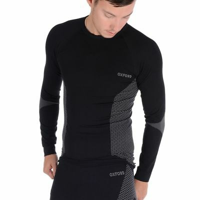 Oxford Layers Base Layer Knitted Long Sleeved Thermal Motorcycle Top Black