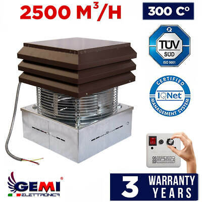 Gemi Chimney Exhaust Draft Extractor Fan For Fireplace Pizza Bbq 110 Volts