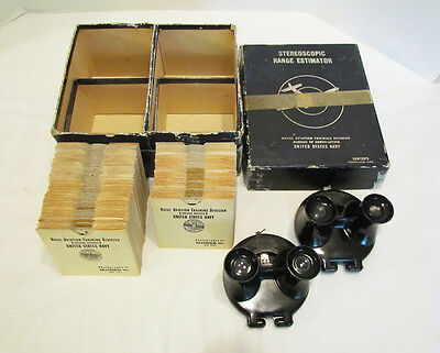 VIEW-MASTER 1940's UNITED STATES NAVY TRAINING SET 100+ REELS 2 MODEL B VIEWERS