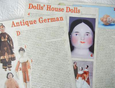 13p History Article + Pictorial Antique German Bisque Doll House Dolls