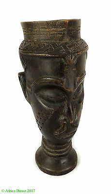 Kuba Cup Head with Handle Congo African Art