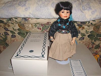 Heritage Dolls Hamilton Collection Navajo Little One American Indian 15 Inches