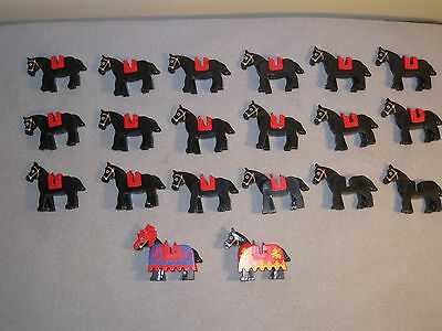Lego Horses Animal Horse lot of 20 w/ 18 Saddles