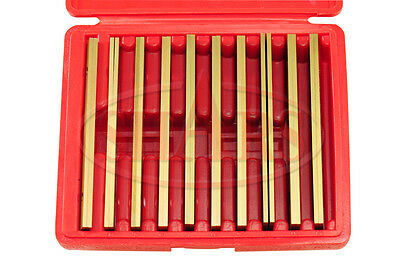 """Shars 1/8"""" Steel Parallels 10 Pairs Tin Coated Finished 1/2 - 1-5/8 In 1/8""""  New"""
