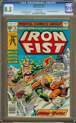 Iron Fist #14 CGC 8.5 White Pages - 1st Appearance of Sabretooth - Looks 9.0+