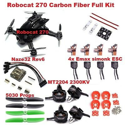 Racing Drone Robocat 270 Carbon Fiber NAZE32 6DOF 2300KV RC Quadcopter FPV UK