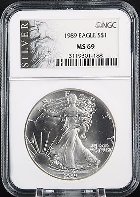 1989 Silver Eagle NGC MS 69