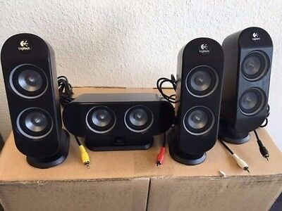 SET of 4-pcs REPLACEMENT Speaker for Logitech X-530 5.1-Channel