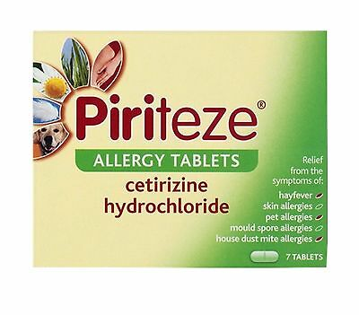 PIRITEZE Allergy/Hay Fever MAX STRENGTH FAST RELIEF 7,14,21 or 42 Tablets