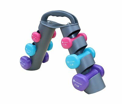 Women Gym Exercise Training Hand Weights Dumbbells Set Workout Fitness 5 3 2 Lb