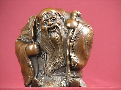 Bronze Statue Chinese God Religious Highly Detailed Sculpture