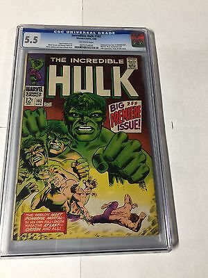 Incredible Hulk 102 Cgc 5.5 Ow Pages