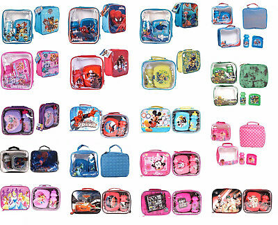 New Disney Wwe 3 Pieces Lunch Bags With Sandwich Box And Drink Bottle For Kids