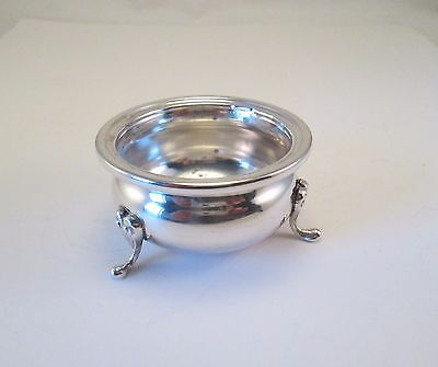 Estate Vintage Antique Sterling Silver Footed Open Salt Cellar       DE4
