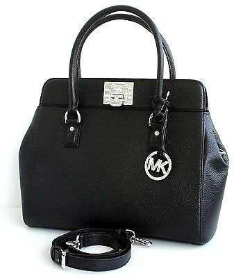 michael kors tasche handtasche bag astrid lg leder schwarz. Black Bedroom Furniture Sets. Home Design Ideas