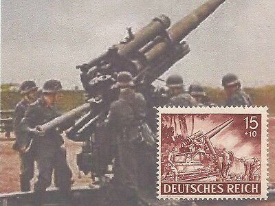 1943 Third 3rd Reich Nazi Germany WW2 Artillery crew in action postage stamp MNH