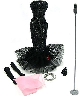 Vintage Mattel Barbie Reproduction Solo in Spotlight Necklace Gown Mic Complete