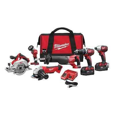Milwaukee 2696-26 M18 18-Volt Lithium-Ion Cordless Combo Kit (6-Tool)- BRAND NEW