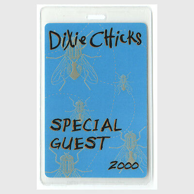 Dixie Chicks authentic 2000 concert Laminated Backstage Pass Fly Tour