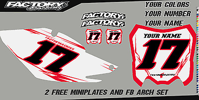 Honda CRF 50F 04-12 Pre Printed Number plate Backgrounds FAST GUY W//AIRBOX
