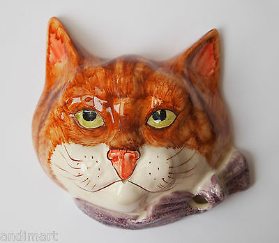 Philip Laureston - Babbacombe Pottery - Ginger Cat - Wall String Dispenser