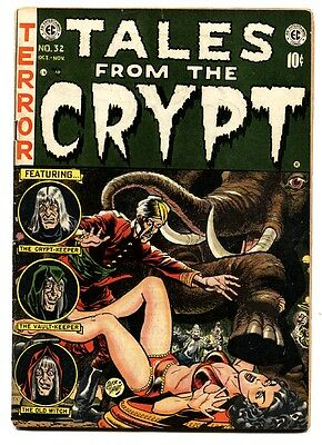 Tales From the Crypt #32 1952- EC Horror-comic book-Circus attack cover