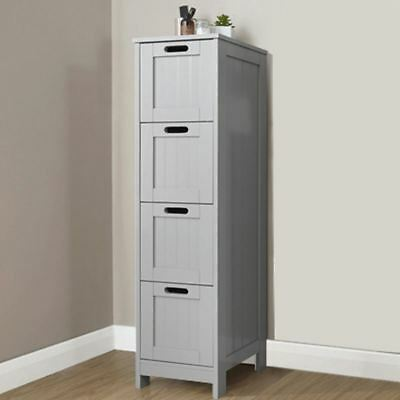 Colonial Bathroom Slim 2 Chest Of Drawers Cabinet Tong Groove Effect Grey Picclick Uk